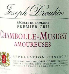 joseph drouhin amoureuses chambolle musigny les premier cru cote de nuit burgundy france